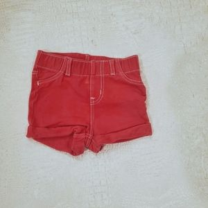 4for$20!! Cotton girls pink shorts size 12m